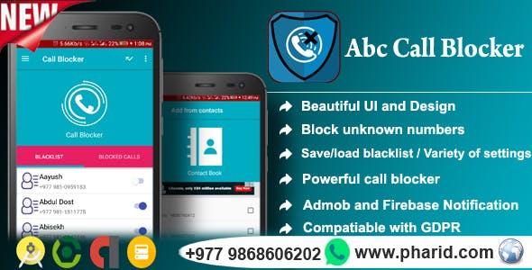 Abc Call Blocker - Admob, Firebase Push Notification, In-App Purchase, Admin Panel