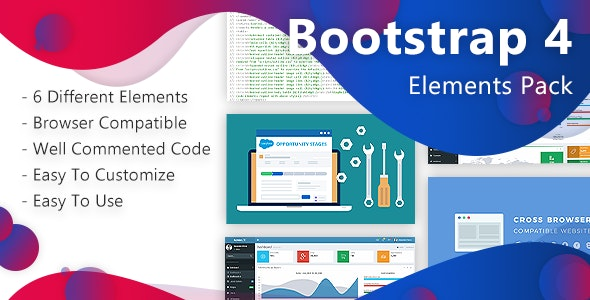 Bootstrap-4 Elements Pack - CodeCanyon Item for Sale