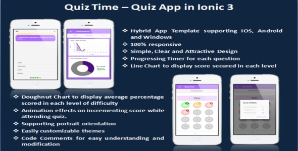 quizTIme - Ionic 3 App for Quiz - CodeCanyon Item for Sale