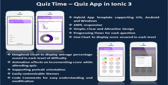 quizTIme - Ionic 3 App for Quiz
