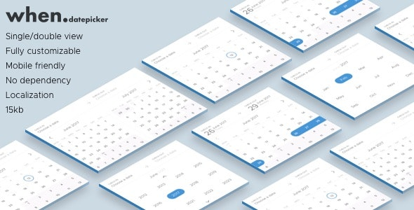 When datepicker - Date Range Picker by oduvanstudio | CodeCanyon