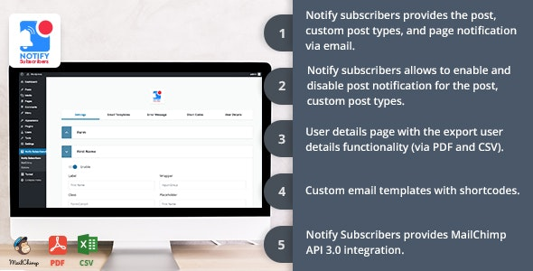 Notify Subscribers - CodeCanyon Item for Sale