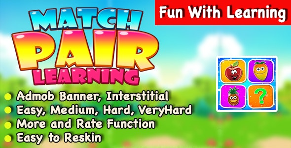 Match Pair Learning + IOS Version + Best Kids Puzzle Game - CodeCanyon Item for Sale