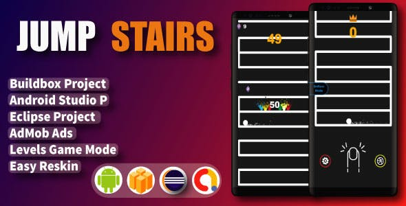 Jump stairs ( Android Project + Eclipse + Admob + Bbdoc )
