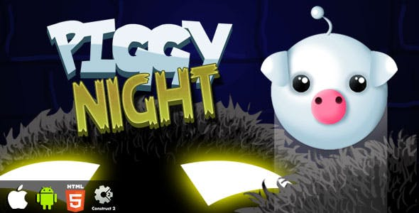Piggy Night - HTML5 Game (CAPX)