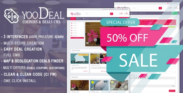 YooDeal -  Coupon, Deal & Online Quotation - CodeCanyon Item for Sale