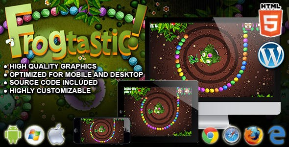Frogtastic - HTML5 Puzzle Game