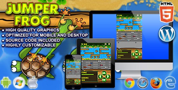 Jumper Frog - HTML5 Game