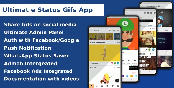 Ultimate Status Gif App - CodeCanyon Item for Sale