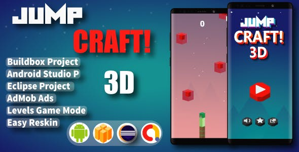 Jump Craft 3D ( Android Project + Eclipse + Admob + Bbdoc )
