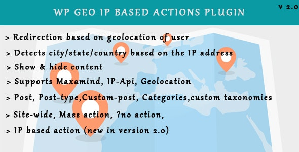WP Geo IP Action Plugin by ddeveloper | CodeCanyon