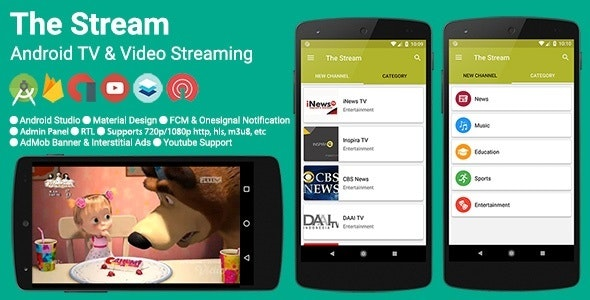 Stream Android To Tv >> The Stream Tv Video Streaming App By Solodroid Codecanyon