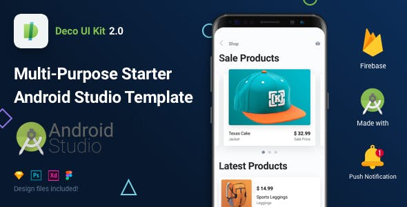 Deco UI Kit - Multi-purpose Starter Android App Template - Android Studio Firebase
