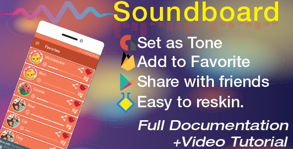 Soundboard with Share|Set as Tone|Favorite by Awoapp
