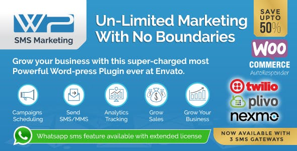 Wordpress SMS Marketing Plugin - CodeCanyon Item for Sale