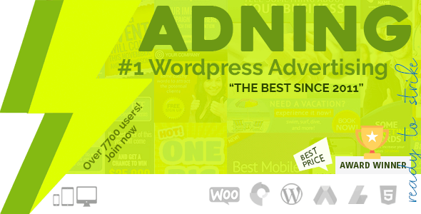 Adning Advertising - Professional, All In One Ad Manager for Wordpress        Nulled