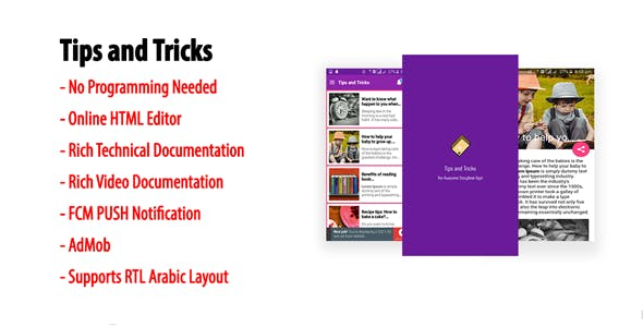 Tips and Tricks | Native Android Storybook App with AdMob & FCM PUSH Notification