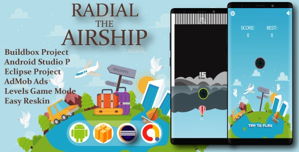 Radial Airship ( Android Project + Eclipse + Admob + Bbdoc