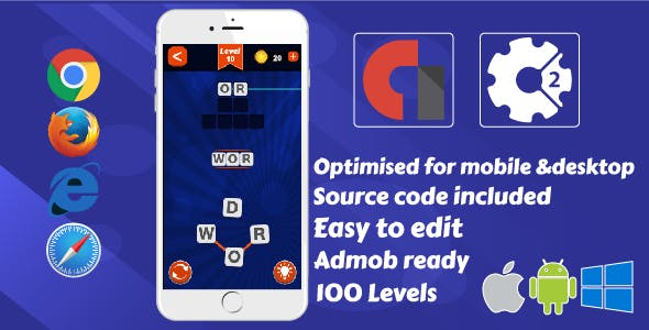 Word Connect Construct 2 Game Admob By Selmiy Codecanyon