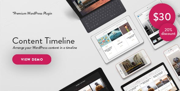 Content Timeline - Responsive WordPress Plugin for Displaying Posts/Categories in a Sliding Timeline        Nulled