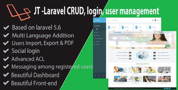 JT Laravel CRUD & Login Management