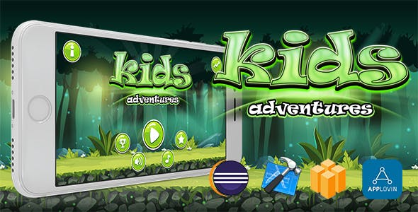 Kids Adventure Buildbox Game Template With Admob Interstitial Ads