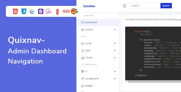 QuixNav - Bootstrap Admin Dashboard Navigation - CodeCanyon Item for Sale
