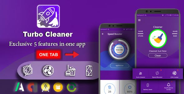 Android Turbo Cleaner - Booster, Cleaner, Battery Saver & Notification Manager