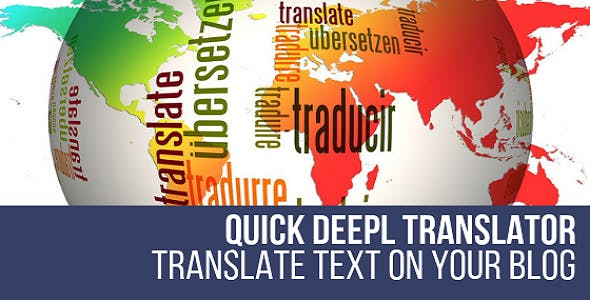 Quick DeepL Translator WordPress Plugin