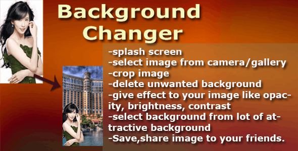 Photo Background Changer - CodeCanyon Item for Sale