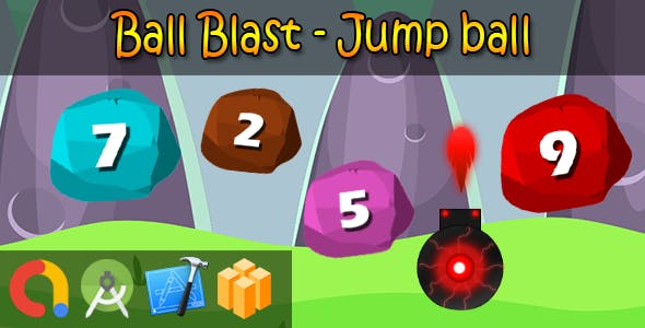 Blast Ball - Buildbox + iOS Xcode 10 + Android Studio + Admob + GDPR