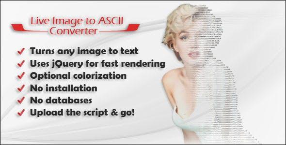 Live Image to ASCII Converter