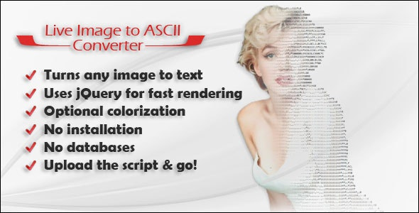 Live Image to ASCII Converter - CodeCanyon Item for Sale