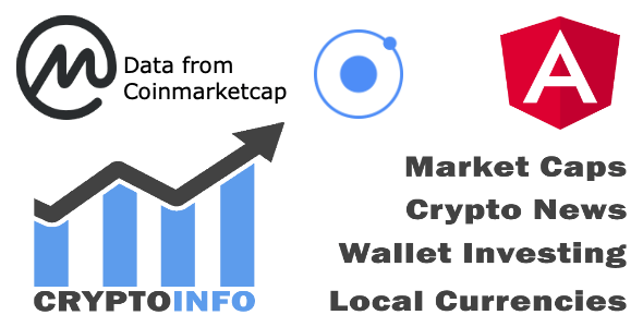 Crypto Currencies Full App + IONIC 3 + Coinmarketcap + Cross platform ( Android, iOS )