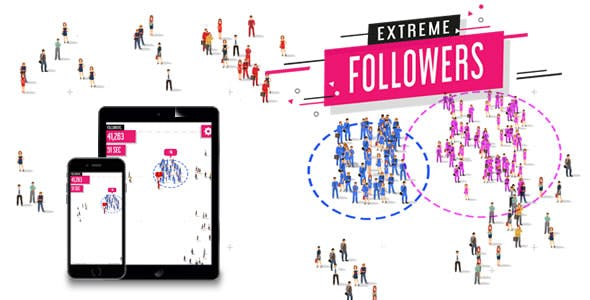 Extreme Followers - HTML5 Game