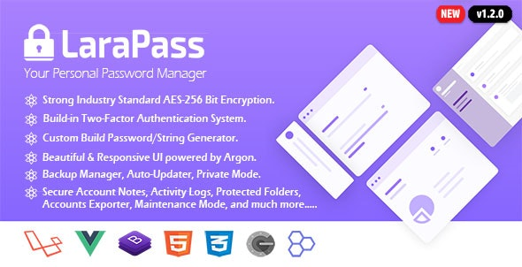 LaraPass - Your Personal Password Manager by Spargon | CodeCanyon