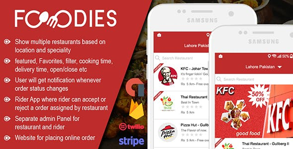Restaurant Food Delivery & Ordering System With Delivery Boy - Android v1.0.6 - CodeCanyon Item for Sale