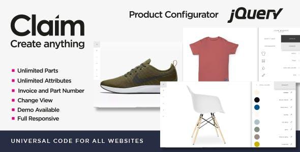 Claim - JQuery Multi-purpose Visual Product Configurator