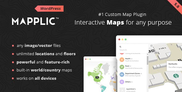 Mapplic - Custom Interactive Map WordPress Plugin        Nulled