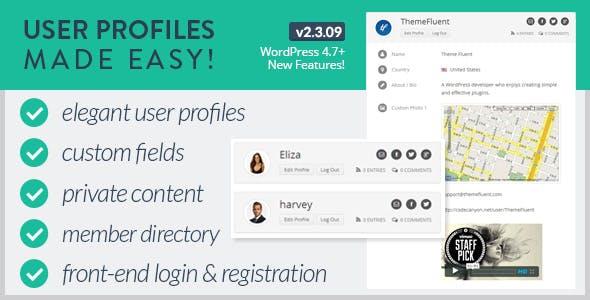 User Profiles Made Easy - WordPress Plugin        Nulled