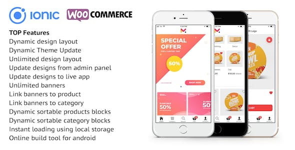 Ionic 5 app for WooCommerce