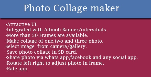Photo Collage Maker - CodeCanyon Item for Sale