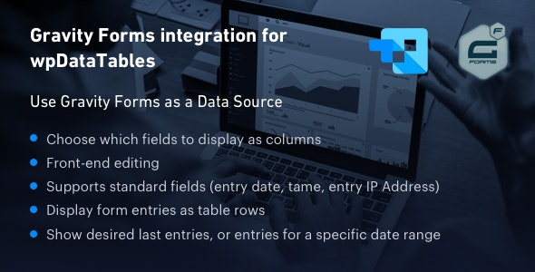 Gravity Forms integration for wpDataTables - CodeCanyon Item for Sale