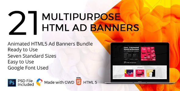 Love - 3 Animated HTML5 Ad Banners