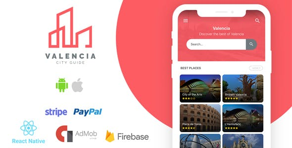 Valencia - Complete City Guide App + Backend - CodeCanyon Item for Sale