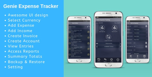 Genie Expense Tracker - CodeCanyon Item for Sale
