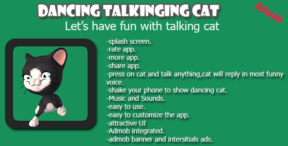 Talking Dancing Cat Android App - CodeCanyon Item for Sale