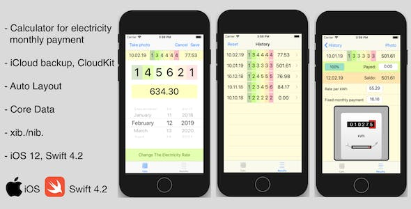 iOS ElectricCalc App