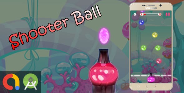 Bubble Ball Shooter - Android Studio + Admob + GDPR + API 27 + Eclipse