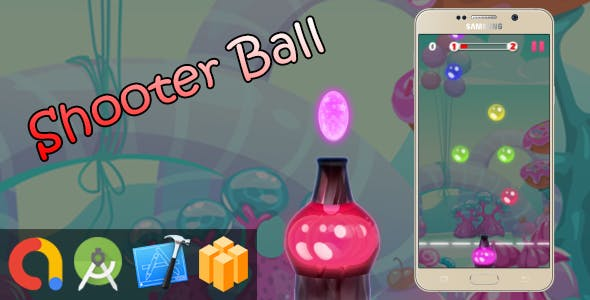 Bubble Ball Shooter - Buildbox + iOS Xcode 10 + Android Studio + Admob + GDPR + API 27 + Eclipse